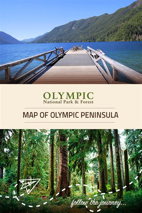 Map of Olympic Peninsula | Olympic National Park & Forest WA