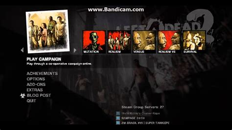 L4D2 Need For Speed Underground Main Menu Music Mod - YouTube
