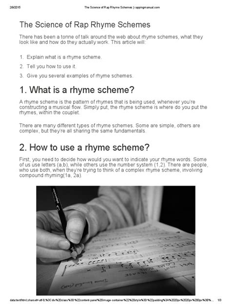 The Science of Rap Rhyme Schemes _ Rappingmanual | Rhyme