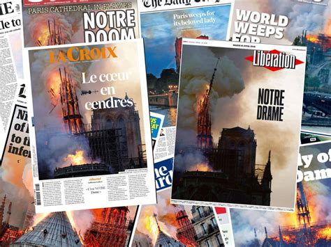 Notre Dame cathedral fire: Newspapers react to devastating