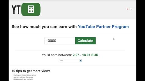 How much money you get for 1000 views on Youtube - YouTube