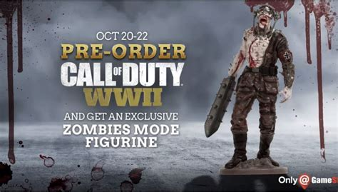 Pre-order Call of Duty: WWII at GameStop Oct 20-22 and get