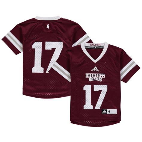 adidas Mississippi State Bulldogs Youth Maroon Replica