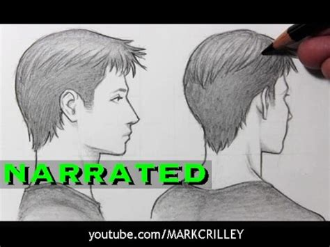 How to Draw a Face in Profile & Turning Away [Narrated