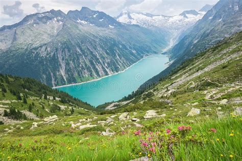 Scenic View From Vrsic Pass In The Julian Alps, Slovenia