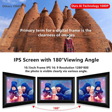 10 inch WiFi Digital Picture Frame, Motion Sensor, Email