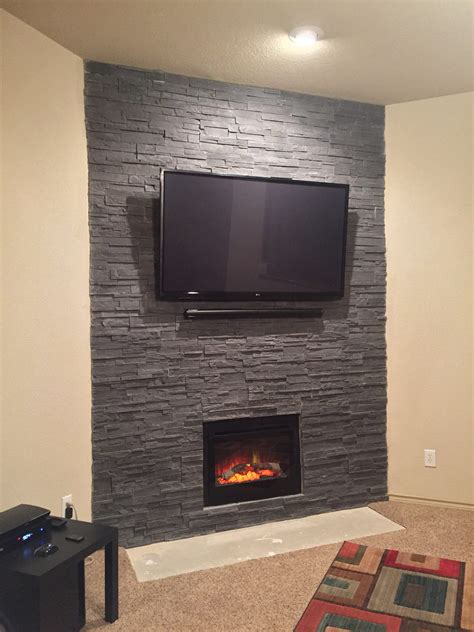 A Fireplace Transformed with Cultured Stone: Photos