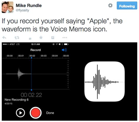 Apple's Voice Memos Icon is the Waveform from Recording