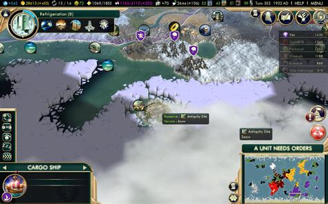 Antiquity Sites Surrounded By Ice? : civ