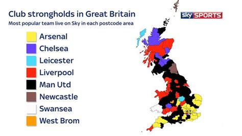 Which is the most-watched Premier League team in your area