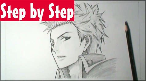 How to draw manga male face 3/4 view (Step by Step