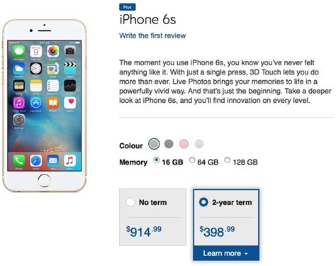Bell iPhone 6s Contract Pricing Starts at $398