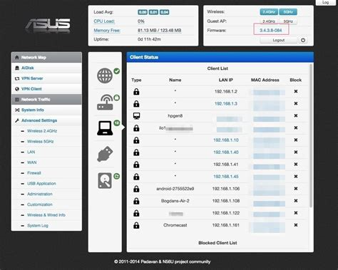 Padavan, an Alternative Firmware for Asus RT WIFI routers