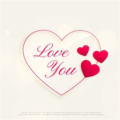 love you design background with heart shapes - Download