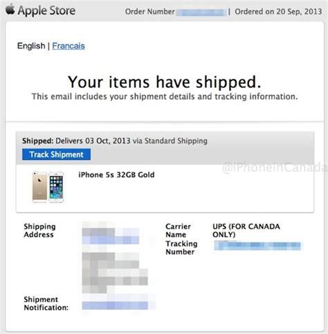 First Online iPhone 5s Orders Have Shipped for Canada–Has