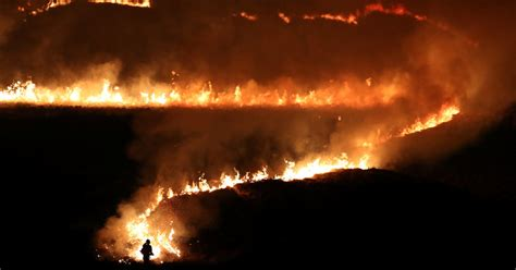 Wildfires Rage in Britain After Record Temperatures - The