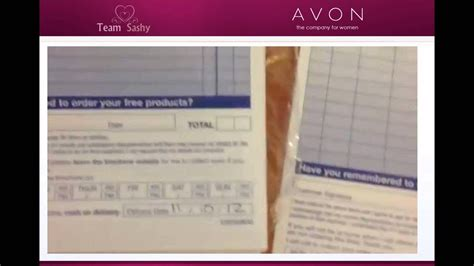 AVON Rep - How to fill in your order forms - YouTube